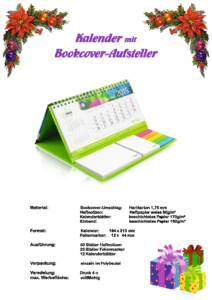 KalendermitBookcoverAufsteller
